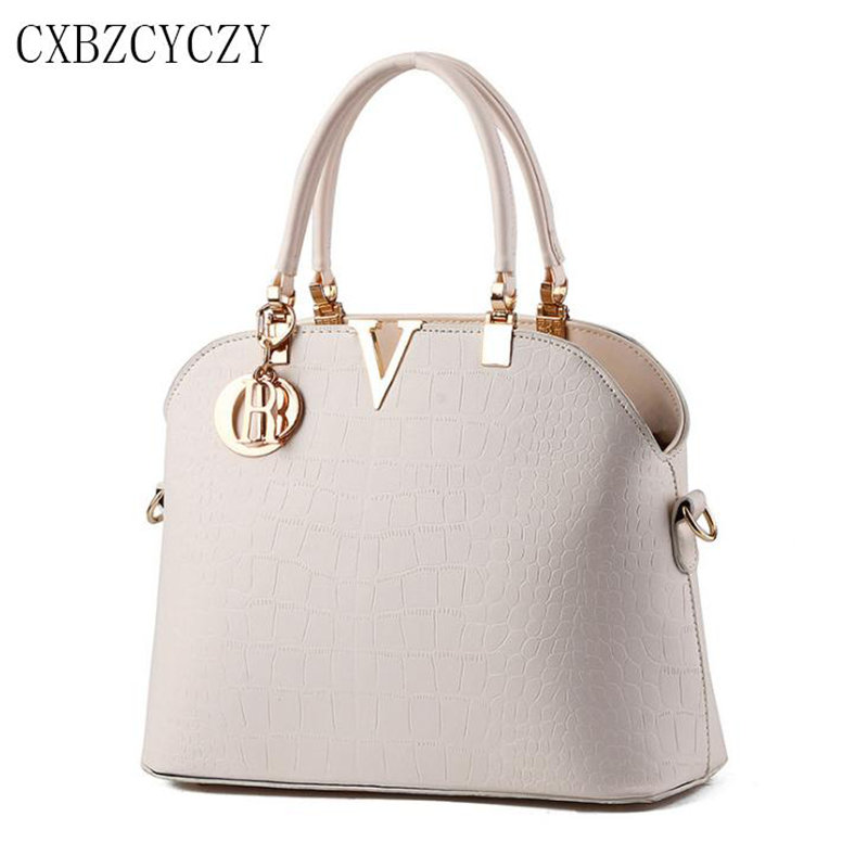 Luxury Handbags Women Bags Designer Shoulder Crossbody Bag Female PU Leather Messenger Bags Tote Crocodile White Bolsa Feminina women floral leather shoulder bag new 2017 girls clutch shoulder bags women satchel handbag women bolsa messenger bag