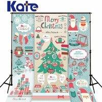Kate zielony ekran merry christmas santa claus zdjęcie backdrops fotograficzne tła cartoon happy christmas tree aparatu fotograficznego