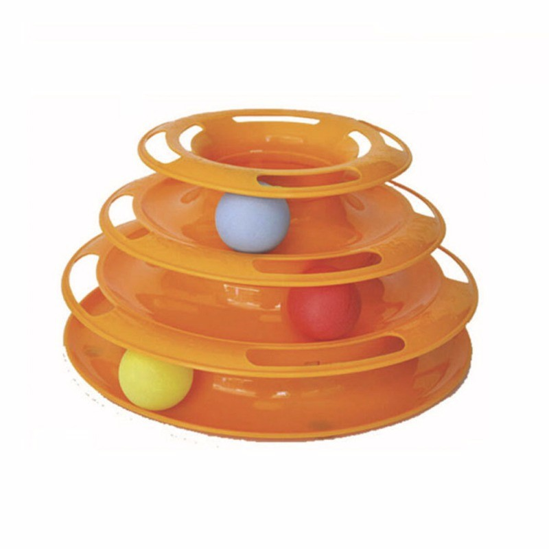 Pet Toys Cat Crazy Ball Disk Interactive Amusement Plate Play Disc Trilaminar Turntable Cat Toy High Quality