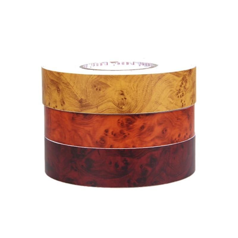 PVC Wood Grain Textured Car Interior Decoration Stickers Waterproof Vinyl Film