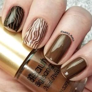 BeautyBigBang 9 мл штамповка лаки для ногтей печать лак для пластина для стемпинга для нейл-арта коричневый черный Цветной Гель-лак для ногтей