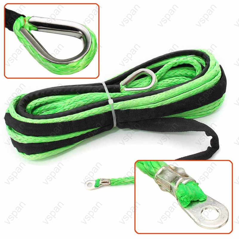 green winch rope
