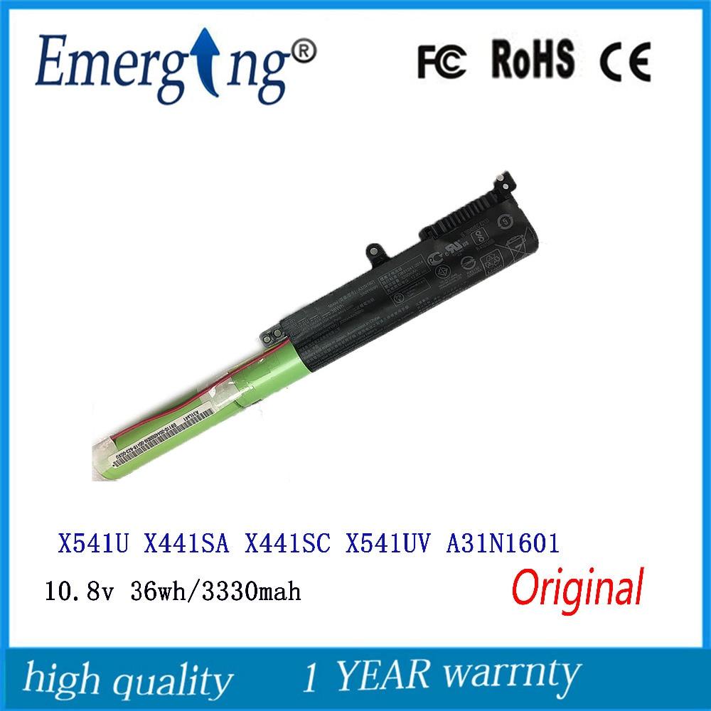 Nouveau Original 10.8 v 36Wh batterie dordinateur portable A31N1601 pour ASUS F541UA R541UA R541UJ R541UV X541SA X541SC X541U X541UA X541UVSeriesNouveau Original 10.8 v 36Wh batterie dordinateur portable A31N1601 pour ASUS F541UA R541UA R541UJ R541UV X541SA X541SC X541U X541UA X541UVSeries