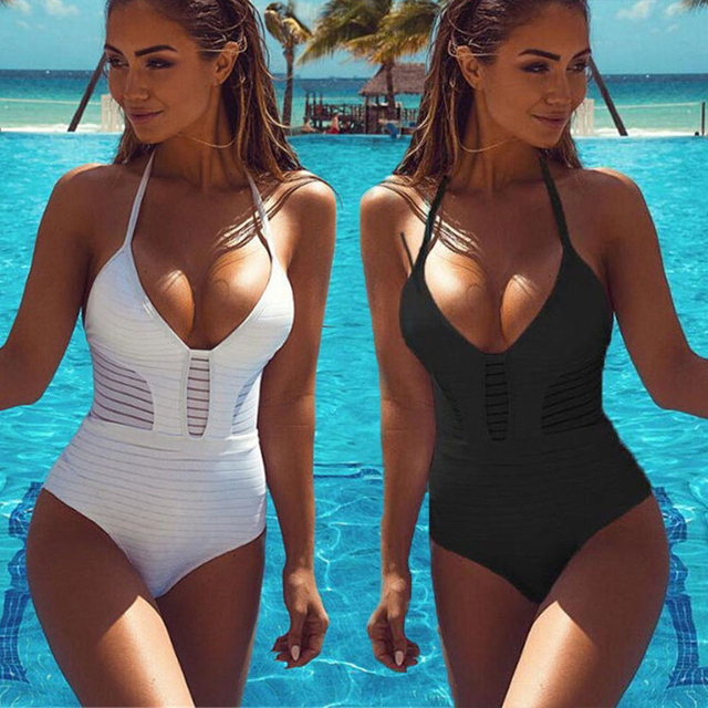 aa6c1d35945 One Piece Swimsuit Plus Size Swimwear Women 2018 swimsuits 3 colors Bathing  Suit Monokini Swimming Wear Bikini Set Tankini Suit