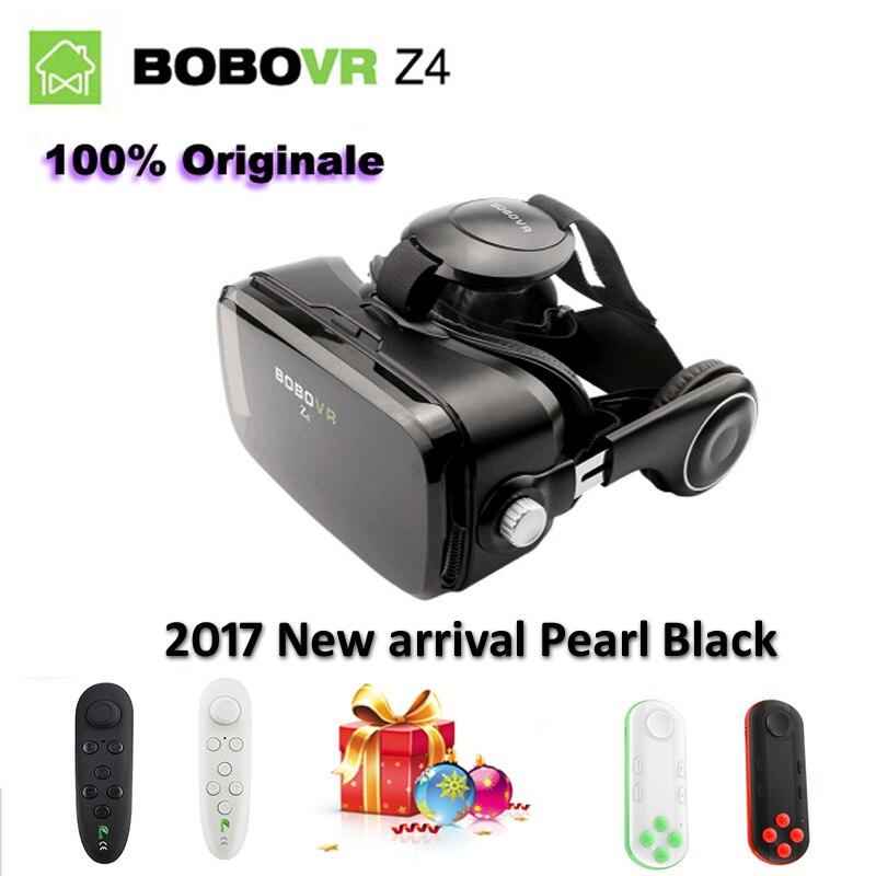 Original BOBOVR Z4 Leather 3D vr Cardboard Helmet Virtual Reality VR Glasses Headset Stereo Box BOBO VR for 4-6′ Mobile Phone