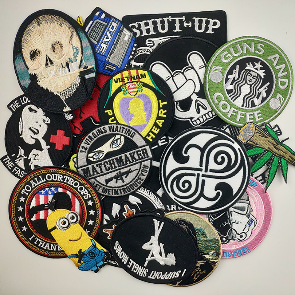 Custom Patches Embroidered Iron On Jacket Clothes Iron Logo Patches