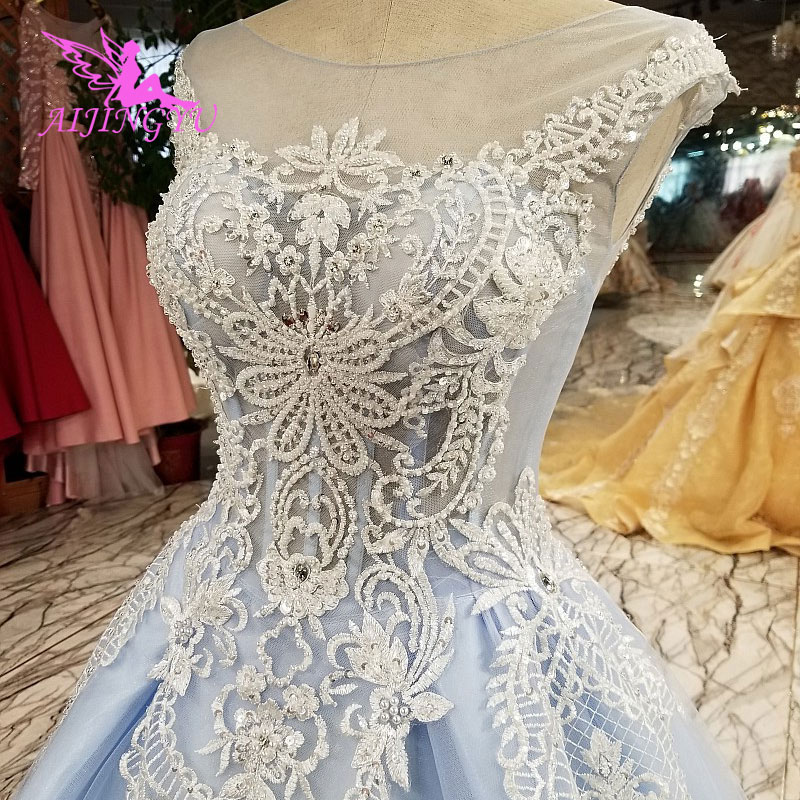 AIJINGYU Wholesale Wedding Dresses Factory With Lace Sleeves Simple Best Bridals Petite White Corset Gown Wedding Dress America image