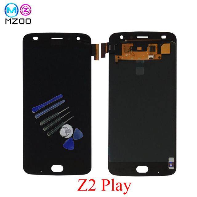 db51e89e031fa Original Super AMOLED LCD Display For Motorola Moto Z2 Play XT1710  XT1710-01/07/08/09/10 Touch Screen Digitizer assembly Replace