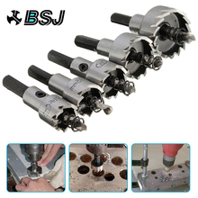 цена на 5 Pcs Carbide Tip HSS Drill Bit Saw Set Metal Wood Drilling Hole Cut Tool for Installing Locks 16/18.5/20/25/30mm hand tool sets