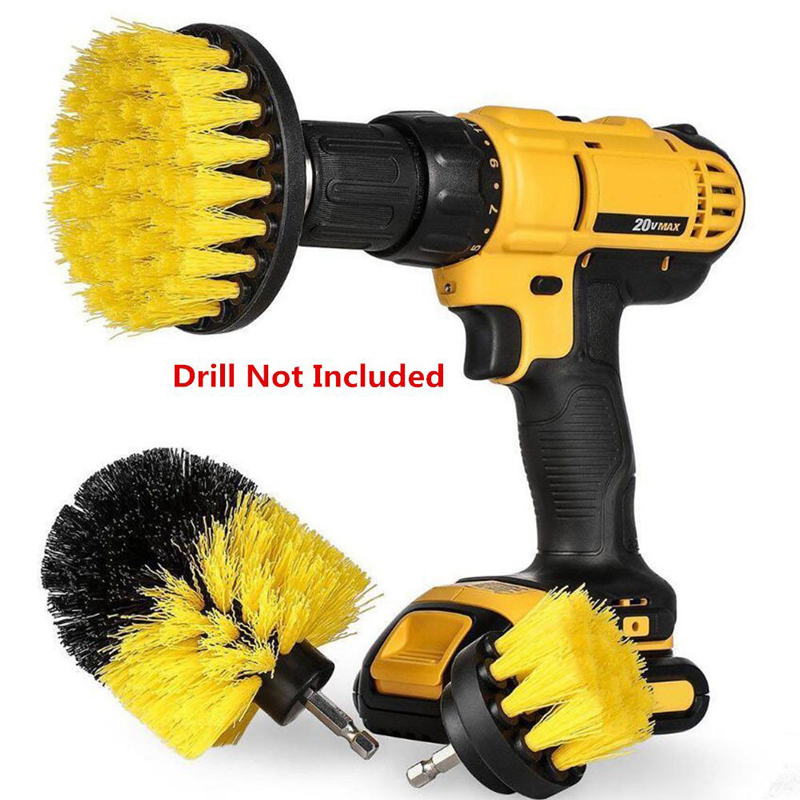 Power Scrubber Brush Set for Bathroom | Drill Scrub Brush for Cleaning Cordless Drill Attachment Kit Power Scrub Brush Furmins
