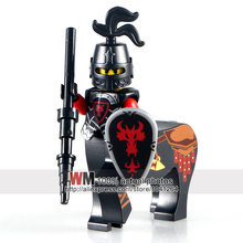 Single Dijual AX8801A-H Lord Of The Rings Merah Dragon Knight Istana Abad Pertengahan Berat Perisai Bangunan Blok Anak-anak Hadiah Mainan Legoings(China)