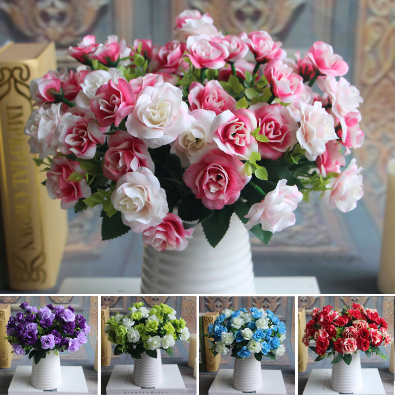 austin bunch 15 heads spring silk flowers artificial rose