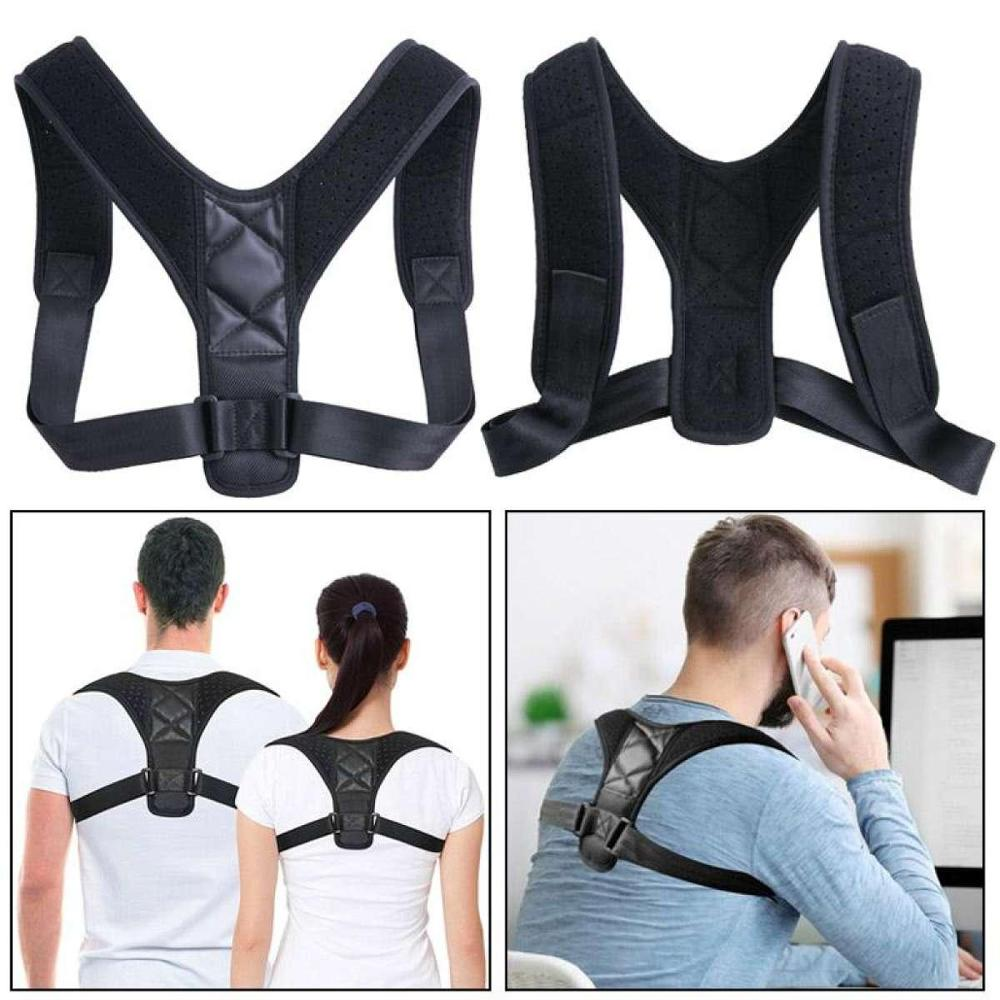 Posture Corrector Adjustable Back Shoulder Correction Brace Belt Clavicle Breathable Material Humpback Back Pain Relief