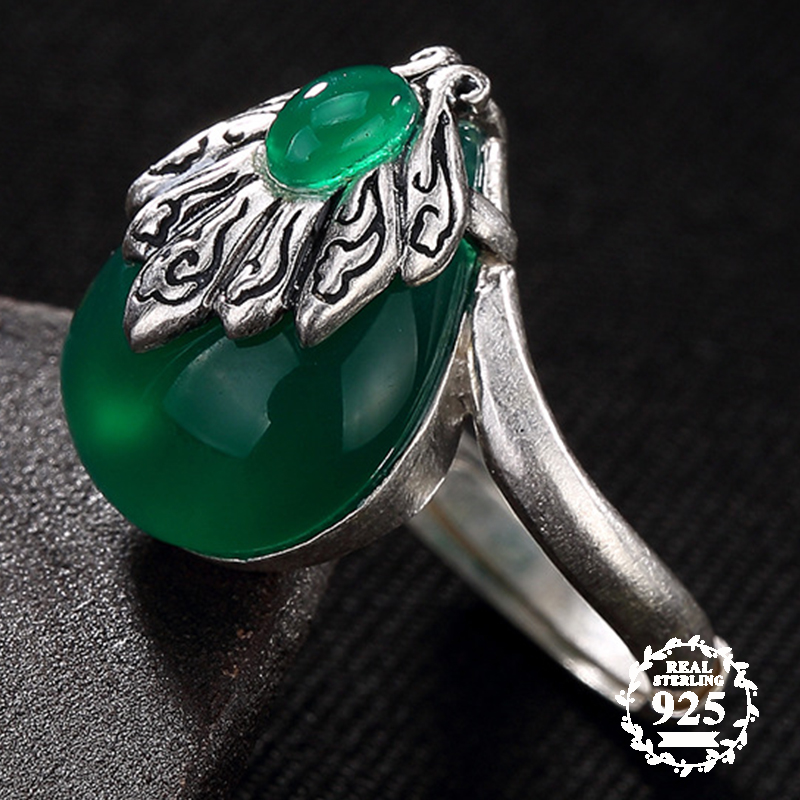 NOT FAKE S925 Fine Jewelry Rings Emerald Rings Luxury Taste Women Handmade Fan Clouds Natural Chalcedony moldavite peridotNOT FAKE S925 Fine Jewelry Rings Emerald Rings Luxury Taste Women Handmade Fan Clouds Natural Chalcedony moldavite peridot