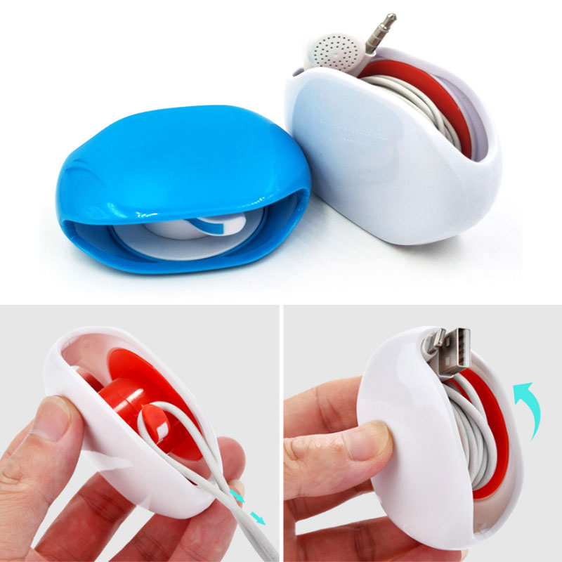 Cord Wire Cable Organizer Tangle-Free Manager Automatic Bobbin Winder Smart Wrap