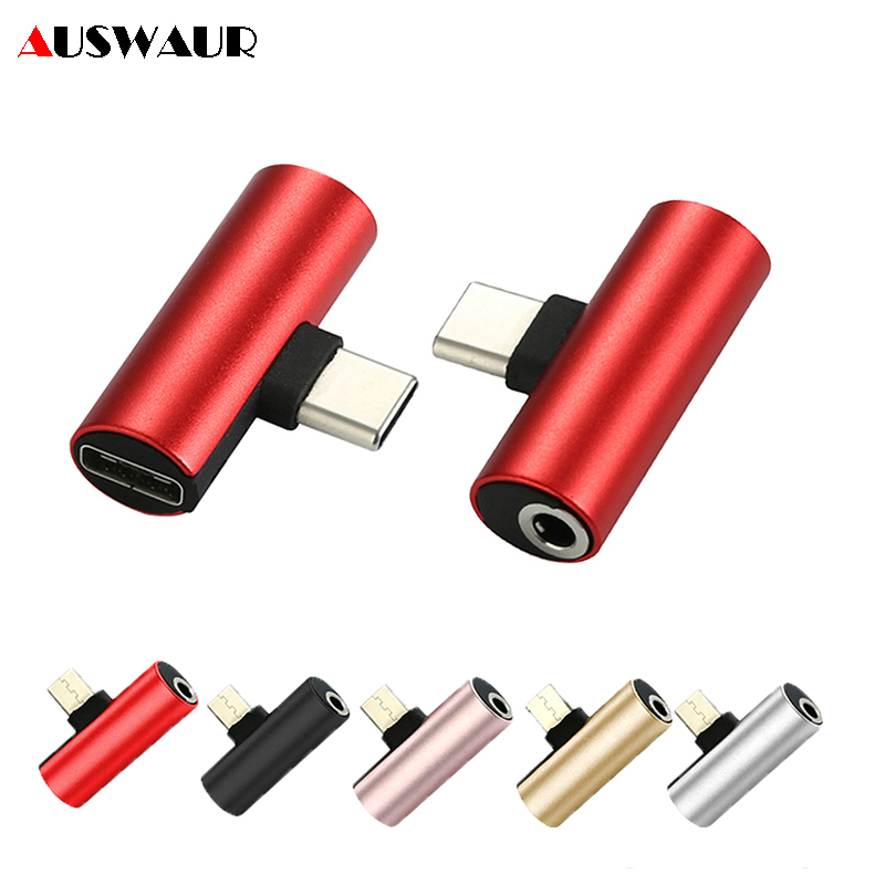 3.5mm Jack Aux Audio Charger Adapter For Android Phone Tablet Type-C To 3.5mm Type-C Headphone Earphone Adapter