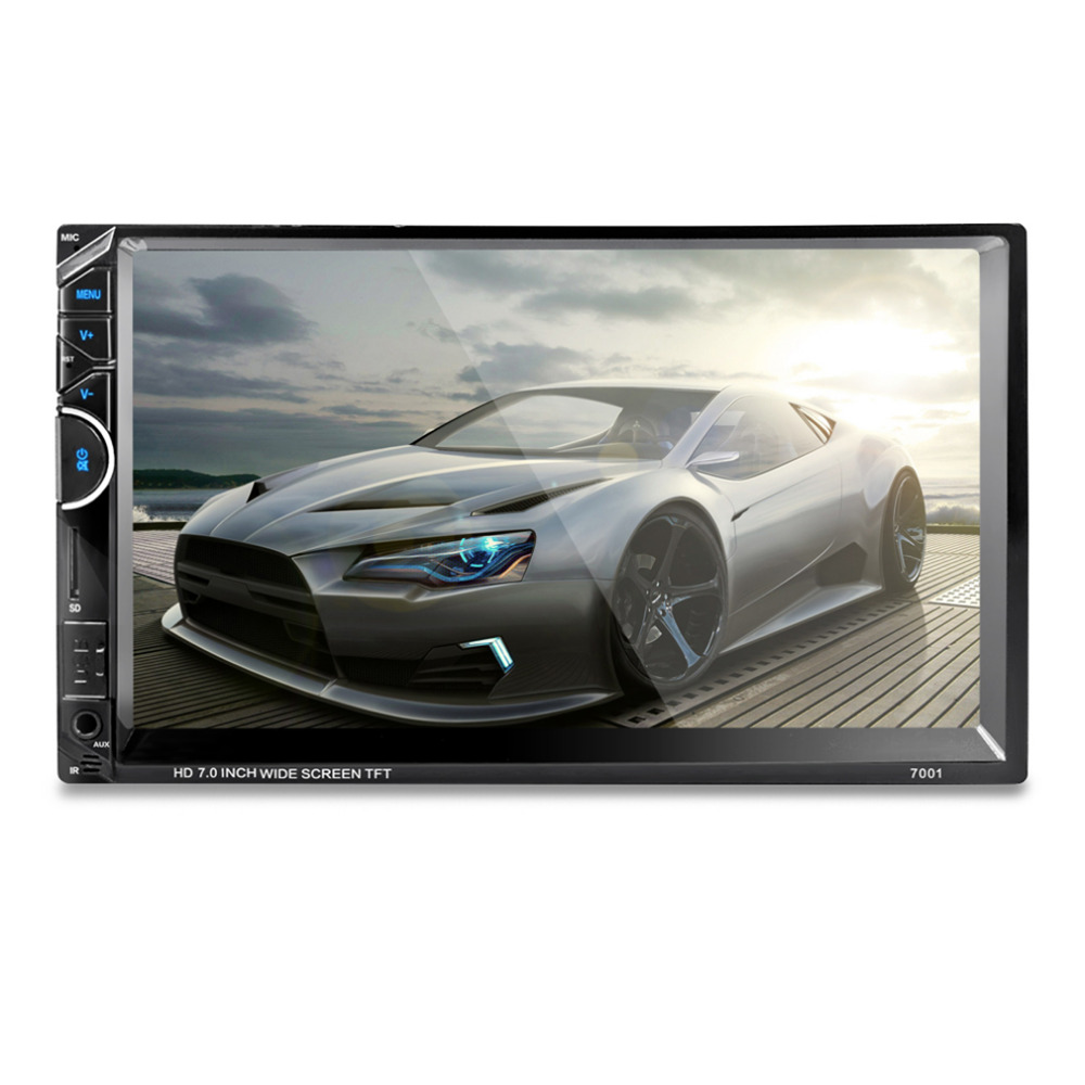 7 Inch  HD 1080P Car Radio Video MP5 Player Bluetooth Autoradio FM AUX USB SD 7001 Touch Screen With AM + RDS Music Movie Player car usb sd aux adapter digital music changer mp3 converter for skoda octavia 2007 2011 fits select oem radios