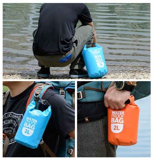 Naturehike 2L Ultralight Outdoor Waterproof Dry Bag Swimming Bag Storage Sack Rafting Pouch Camping Boating Kayaking Canoeing