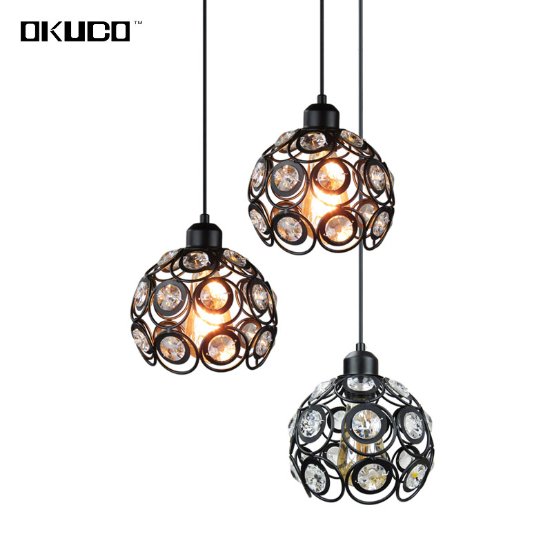 Vintage Crystal Pendant Lights Fixtures For Dining Room Retro Restaurant Coffee Shop Indoor Home Art Hanging Lamp Loft Style retro country pendant lights loft vintage lamp restaurant bedroom dining room pendant lamps american style for living room