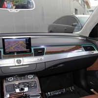 Für Audi q7 a8 a5 a7 s6 Center Control Konsole Getriebe Shift Panel Auto Innen Unsichtbare Schutzhülle Film Auto Aufkleber zubehör