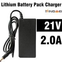 Kingwei 무료 배송 ac 100 v 240 v 변환기 어댑터 dc 21 v 2a 전원 공급 장치 eu 미국 영국 충전기 플러그 18650 배터리 핸드폰 for 18650 battery charger plugcharger for 18650 battery -
