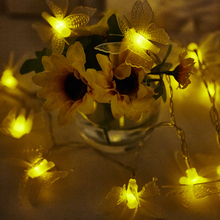 2m 3m Battery Operated Christmas Garland Lights Navidad 4m 5m 10m 3D Butterfly LED String Fairy Guirlande Lumineuse Led
