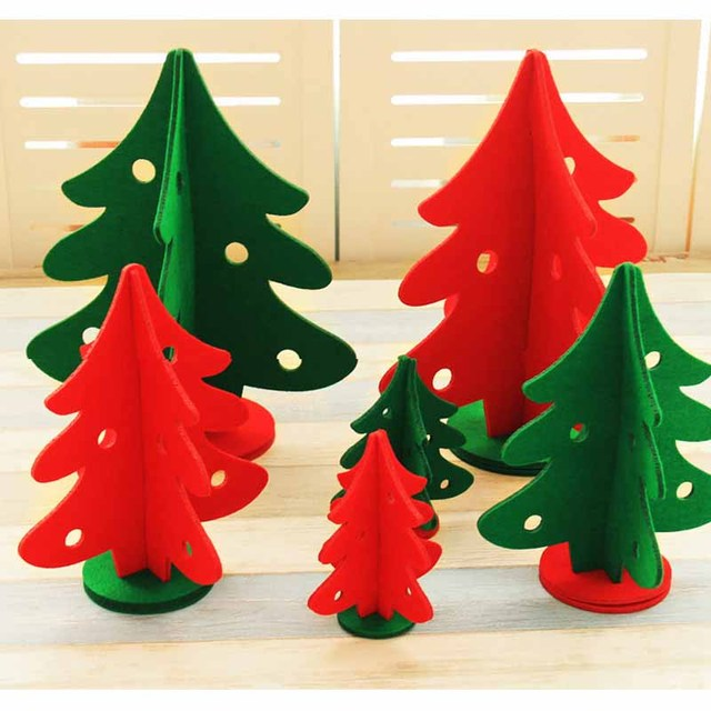 Ynaayu 1pcs Little Christmas Tree Non Wovens Tree-dimensional Xmas Tree Party Decoration For Happy & Ynaayu 1pcs Little Christmas Tree Non Wovens Tree dimensional Xmas ...