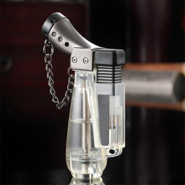 Hot Compact Jet Gas Lighter Torch Turbo Butane Cigarette 1300 C Fire Windproof Lighter No Gas