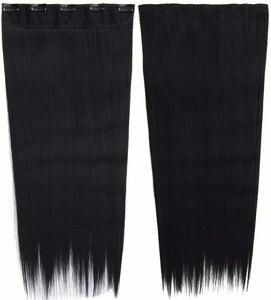 10 шт./лот, прямые синтетические накладные волосы на клипсе, 5 зажимов, термостойкие волосы для наращивания, 24 дюйма, 100 г, MIC-666