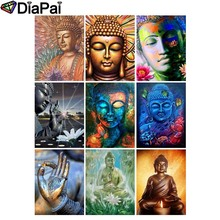 DIAPAI Diamond Painting 5D DIY 100% Full Square/Round Drill Religious Buddha flower 3D Embroidery Cross Stitch Home Decor адаптер питания для ноутбука pitatel ad 049