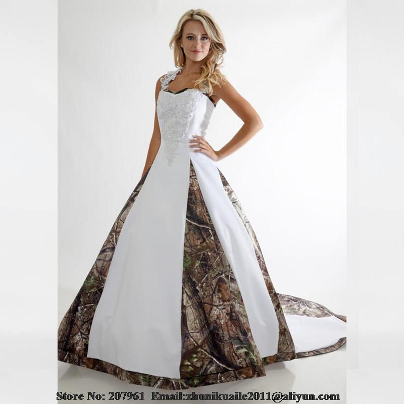 Wedding Dresses In White And Camo 39
