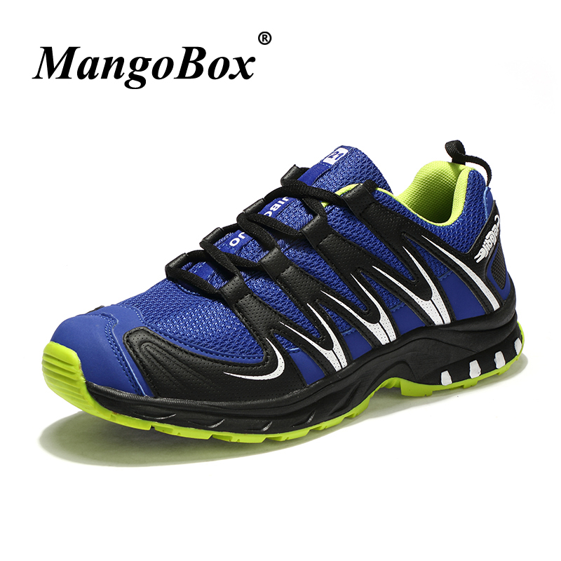 Man Sneakers for Sport Comfortable Man Running Shoes Black Gray Training Shoes Rubber Bottom Lace Up Athletic Footwear Male