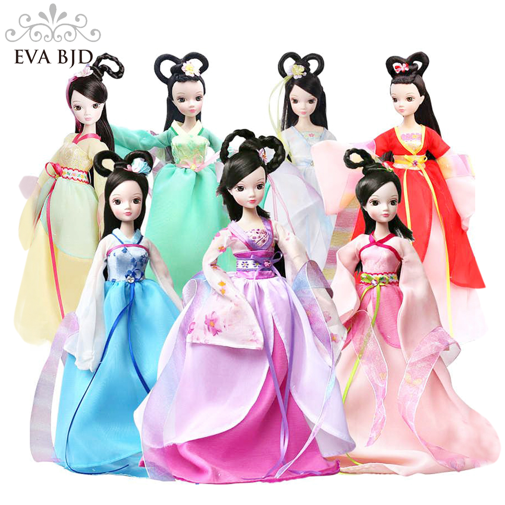 1/6 BJD Doll 28cm Kurhn Chinese Seven Fairies dolls for girls Toy ( Free makeup + Clothes + Shoes ) Accessories EVA BJD DB00802 chic high waist hit color sport pants for women