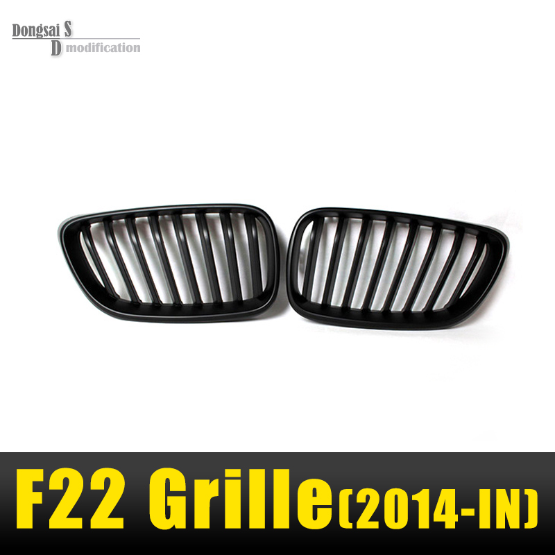 F22 matte black grill F23 ABS front kidney grille for Bmw 2 series 2 Door F22 F23 218i 220i 228i 235i F87 M2 bumper car styling 10th front bumper grill abs material middle grille racing grills type r grill mesh case for honda civici 2016 2017