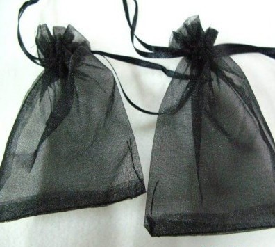 dee9314f0 Envío libre 13*18 cm 500 unids/lote negro joyas embalaje Bolsas organza  Bolsas bastante Bolsas de tela del regalo de boda/caramelo bolsas