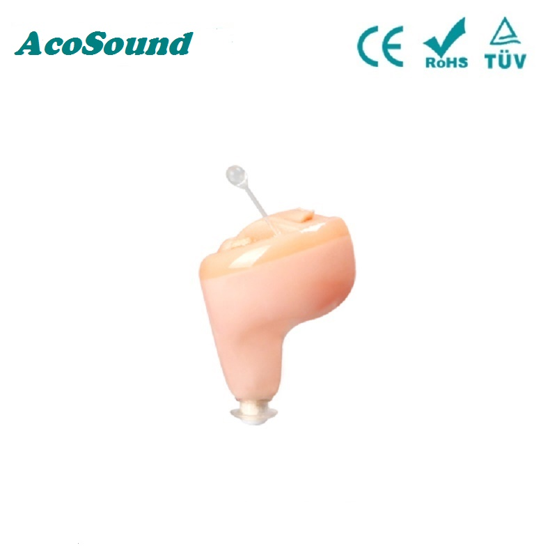Newest AcoSound Digital CIC Hearing Aid Small In The Ear Hearing Aids Invisible Sound Amplifiers For The Elderly Ear Aids acosound s410 hearing aid digital cic hearing aids for the elderly ear care hearing device invisible sound amplifiers