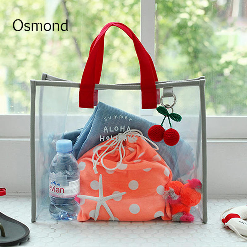 41c6dacdf25f Osmond Women Clear Transparent Handbag Totes Shoulder Bag Large Capacity  Jelly Bags For Ladies Beach Bag