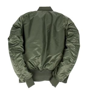 Image 4 - 2020 Winter Vintage oversize MA 1 streetwear hip hop military coats clothes double side bomber flight air force pilot jacket men