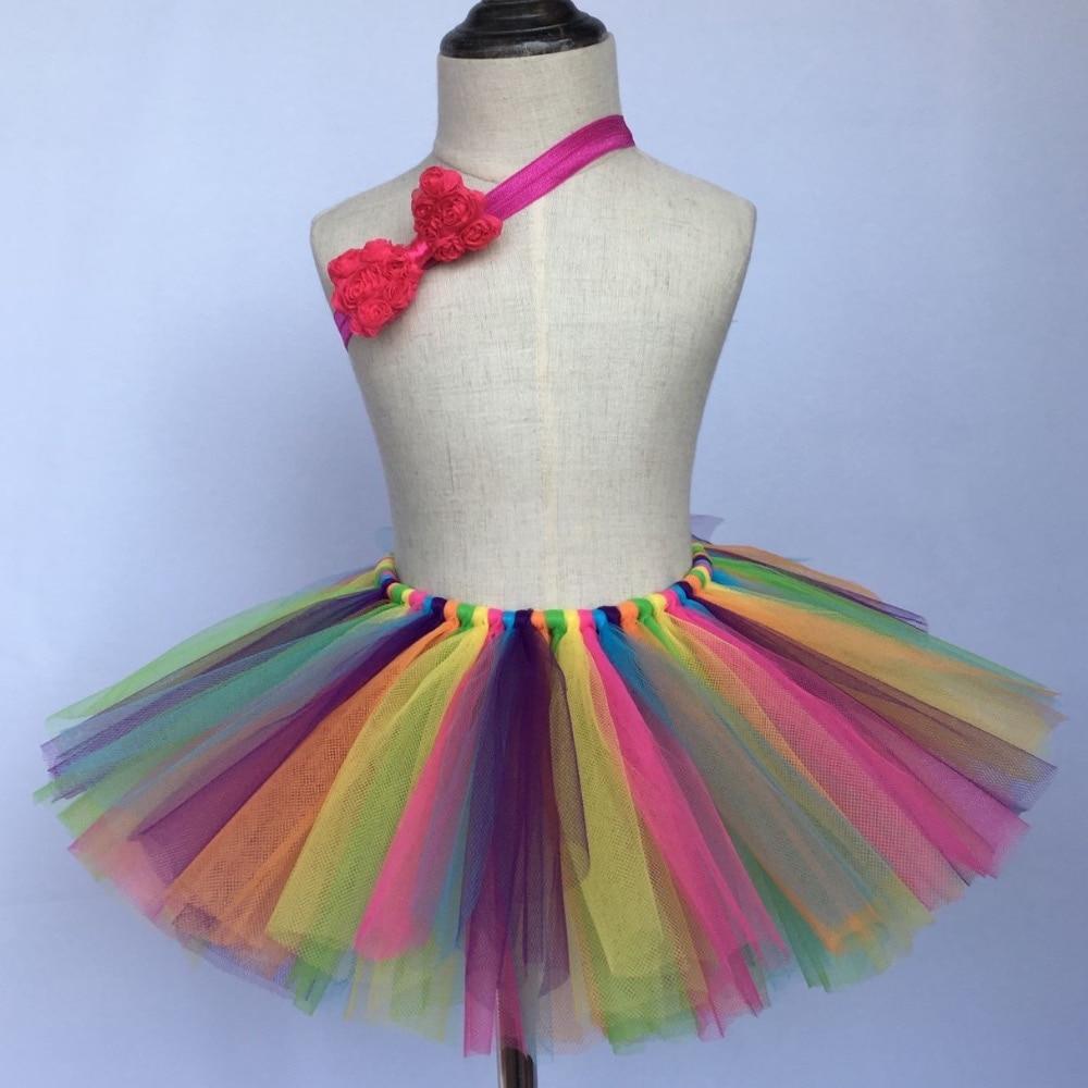 Girls Multicolor Tutu Skirts Baby Handmade Tulle Ballet