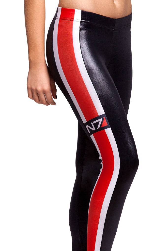 MINSUNDA spring summer women's blackmilk fashion girl's Mass Effect N7 logo galaxy 3D print fitness tights disco pencil pants