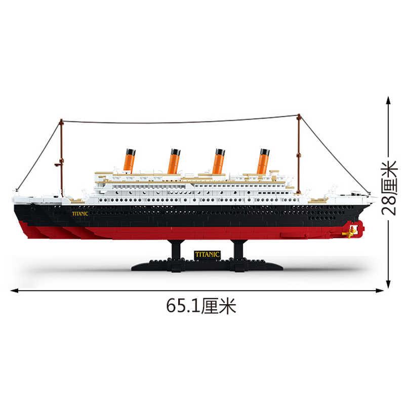 Corredi di costruzione di modello compatibile legoed Titanic set nave da guerra militare warcrafted vettore nave barca blocchi bambini giocattoli chidl mattoni