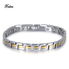 Bracelet Men Jewelry Punk Rock Style Silver/Gold Color 21cm Chunky Chain Link Bracelets Bangles Pulseira