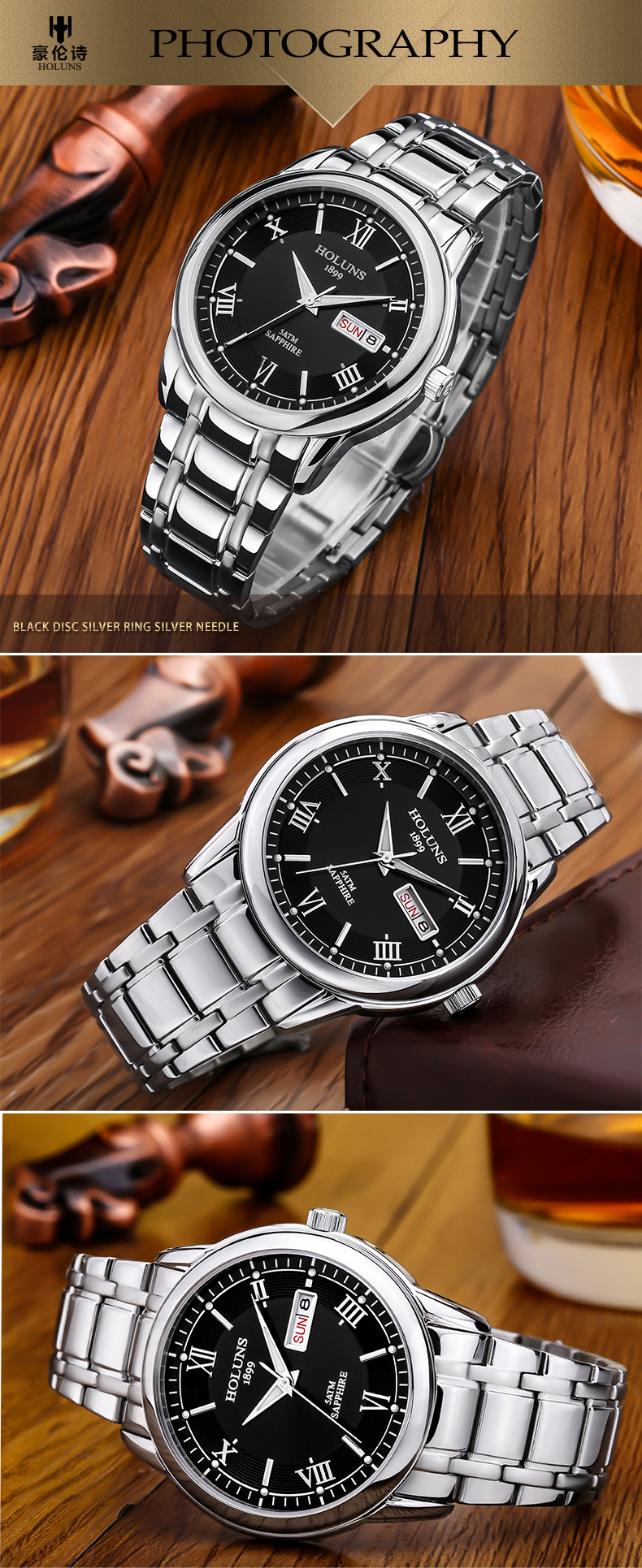 HTB1Dw2GcgmH3KVjSZKzq6z2OXXar HOLUNS relogio masculino full stainless steel men automatic watch top brand luxury 5ATM waterproof Super luminous dropshipping