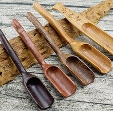 Многофункциональный 16 см длина натуральная деревянная чайная ложка плантаторы почвы Лопата Ложка садовые инструменты кухонные аксессуары