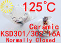 KSD302 16A 125 градусов Керамические 250 В KSD301 Нормально Замкнутый Переключатель Температуры Термостат х 10 ШТ. БЕСПЛАТНАЯ ДОСТАВКА