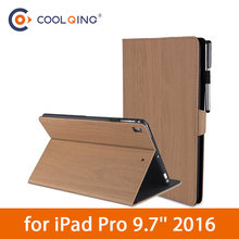 Wood Grain Tablets Case For iPad Pro 9.7 2016 PU Leather Pattern Smart Protective Cover Tablet Case For iPad Pro Case Pro 9.7''