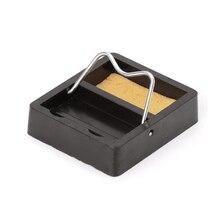 Электрический паяльник стенд держатель поддержка станция металлической основе с припоя губка для Бутан ручка в форме сварочной горелки