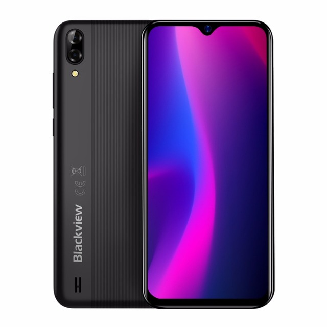 Blackview a60 smartphone android ir 8.1 4080mah bateria 19:9 6.1 polegada câmera dupla 1gb ram 16gb rom telefone móvel 13mp + 5mp câmera