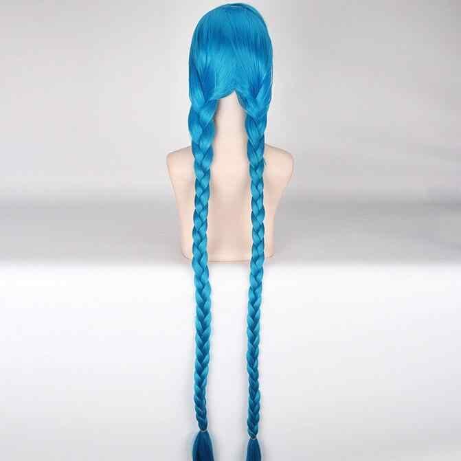 ジュエリーのかつらパーティーかつら衣装ゲーム笑ジンクス Blue コスプレ人工毛ウィッグ 100 センチメートル送料無料
