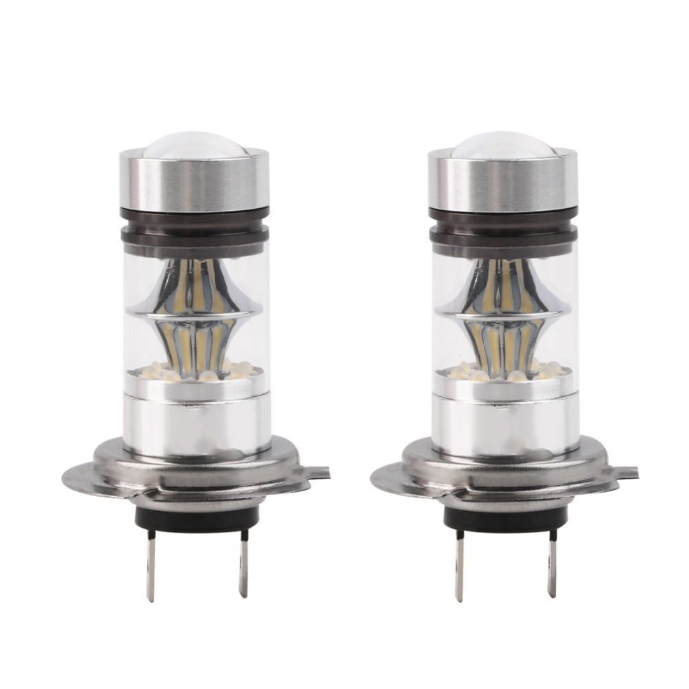 2pcs H7 100W High Power COB LED Car Auto DRL Driving Fog Tail Headlight Light Lamp Bulb White 12-24V car styling Free Shipping